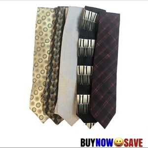 Lot of 5 Assorted Mens Ties